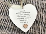 Shabby personalised Gift Chic Heart Plaque Special BEST FRIEND ANY NAMES Gift - 332886001519